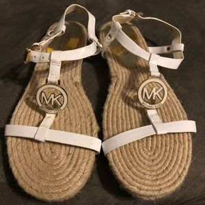 White Michael Kors Sandals Size 6.5